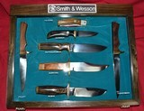 Smith & Wesson Knife collection Display Case Complete Blackie Collins Bowie Folder - 1 of 11