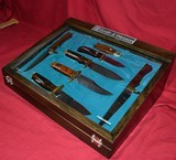 Smith & Wesson Knife collection Display Case Complete Blackie Collins Bowie Folder - 10 of 11