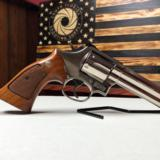 "Smith and Wesson Model 586 No Dash Factory Nickel 4"""