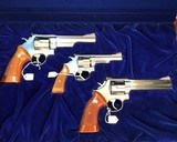 Smith and Wesson Stainless Presentation Set Cased models 629, 686, 63, Three Gun Set NIB