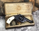 Antique Smith and Wesson D.A. Top Break, .32 With Box, Pearls.