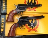 Consecutively Numbered Pair Ruger Single Six NIB. .22 LR/ .22 Mag