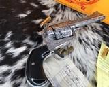 1991 Ruger New Model Super BlackHawk .44 Mag Revolver, 4 5/8 In. Birds Head, 100% Master Hand Engraved