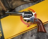 1994 Ruger Single Six, Stainless Steel, 22lr/.22wmr, Boxed.