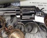 Smith and Wesson's 10-5 Nickel, Four inch, Boxed, Pristine - 18 of 20
