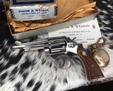 Smith and Wesson's 10-5 Nickel, Four inch, Boxed, Pristine - 19 of 20
