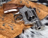 Smith and Wesson K38 Combat Masterpiece, model 15, Boxed Nickel 2 inch. 99% - 14 of 17