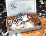 Smith and Wesson K38 Combat Masterpiece, model 15, Boxed Nickel 2 inch. 99% - 16 of 17