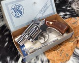 Smith and Wesson K38 Combat Masterpiece, model 15, Boxed Nickel 2 inch. 99% - 4 of 17
