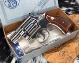 Smith and Wesson K38 Combat Masterpiece, model 15, Boxed Nickel 2 inch. 99% - 1 of 17