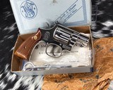 Smith and Wesson K38 Combat Masterpiece, model 15, Boxed Nickel 2 inch. 99% - 6 of 17