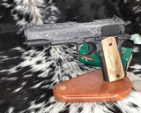 """Colt Government Model, .38 Super, Master Engraved by """"The Featherman"""" NIB - 4 of 25"""