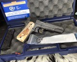 """Colt Government Model, .38 Super, Master Engraved by """"The Featherman"""" NIB - 21 of 25"""