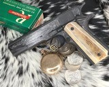 """Colt Government Model, .38 Super, Master Engraved by """"The Featherman"""" NIB - 20 of 25"""