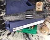 """Colt Government Model, .38 Super, Master Engraved by """"The Featherman"""" NIB - 14 of 25"""