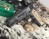 """Colt Government Model, .38 Super, Master Engraved by """"The Featherman"""" NIB - 6 of 25"""