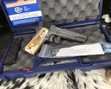 """Colt Government Model, .38 Super, Master Engraved by """"The Featherman"""" NIB - 25 of 25"""