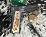 """Colt Government Model, .38 Super, Master Engraved by """"The Featherman"""" NIB - 2 of 25"""