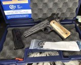 """Colt Government Model, .38 Super, Master Engraved by """"The Featherman"""" NIB - 11 of 25"""