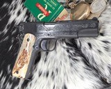 """Colt Government Model, .38 Super, Master Engraved by """"The Featherman"""" NIB - 7 of 25"""