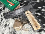 """Colt Government Model, .38 Super, Master Engraved by """"The Featherman"""" NIB - 13 of 25"""