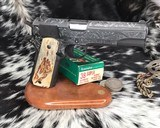 """Colt Government Model, .38 Super, Master Engraved by """"The Featherman"""" NIB - 22 of 25"""