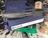 """Colt Government Model, .38 Super, Master Engraved by """"The Featherman"""" NIB - 24 of 25"""
