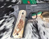 """Colt Government Model, .38 Super, Master Engraved by """"The Featherman"""" NIB - 12 of 25"""