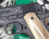 """Colt Government Model, .38 Super, Master Engraved by """"The Featherman"""" NIB - 8 of 25"""