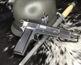 WWII German Inspected ,Slotted FN High Power, 9mm, Numbers match. - 2 of 16
