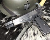 WWII German Inspected ,Slotted FN High Power, 9mm, Numbers match. - 12 of 16