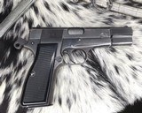 WWII German Inspected ,Slotted FN High Power, 9mm, Numbers match. - 6 of 16