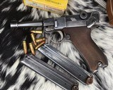 1920 DWM P08 Commercial Luger,.30 Luger, W/shoulder rig and extra magazine. - 3 of 14
