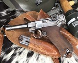 1920 DWM P08 Commercial Luger,.30 Luger, W/shoulder rig and extra magazine. - 7 of 14