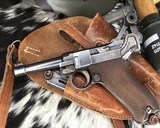 1920 DWM P08 Commercial Luger,.30 Luger, W/shoulder rig and extra magazine. - 11 of 14