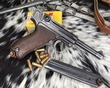 1920 DWM P08 Commercial Luger,.30 Luger, W/shoulder rig and extra magazine.