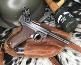 1920 DWM P08 Commercial Luger,.30 Luger, W/shoulder rig and extra magazine. - 6 of 14