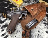 1920 DWM P08 Commercial Luger,.30 Luger, W/shoulder rig and extra magazine. - 12 of 14