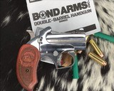 Bond Arms Grizzly Derringer, .45/.410 Ga, Polished Stainless - 3 of 8
