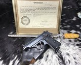 1944 Walther PP W/Holster, With Capture Papers from 79th US Army Infantry Division
