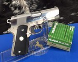 Colt Lightweight Officers Model, Bright Stainless and Alloy, Custom Shop, .45acp, Boxed
