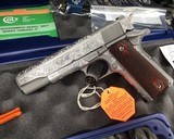 Colt 70 Series Government Model Stainless, Hand Engraved, New