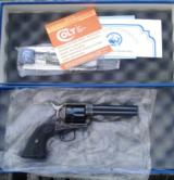 2007 Colt Single Action Army .45 Colt4& 3/4 Blue and Case