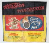 WESTERN WINCHESTER SHOOTING GALLERY BANNER