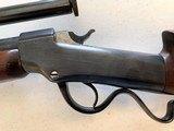 Ballard .22 caliber Falling Block Rifle with Unertl scope - 5 of 7