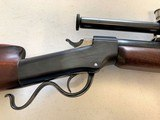 Ballard .22 caliber Falling Block Rifle with Unertl scope - 7 of 7