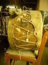 Authentic Native American Style Drum - 4 of 9