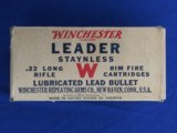 Winchester Leader Staynless 22 Long Rifle FULL BRICK