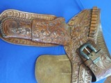 George Lawrence Leather Six-Gun Rig with Sterling Silver Buckle
