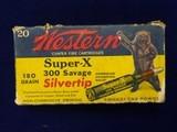 WESTERN SUPER-X 300 SAVAGE SILVERTIP - 1 of 9